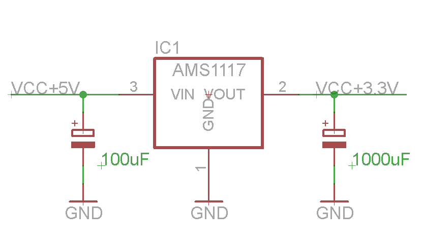 AMS117 3.3V power supply