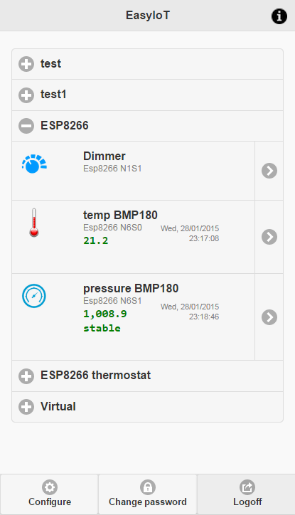 ESP8266 air pressure and weather forecast sensor