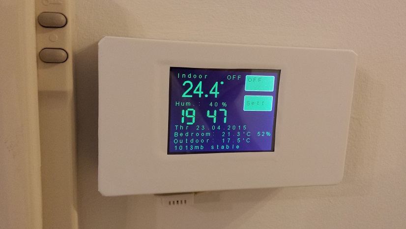 ESP8266 touch screen thermostat