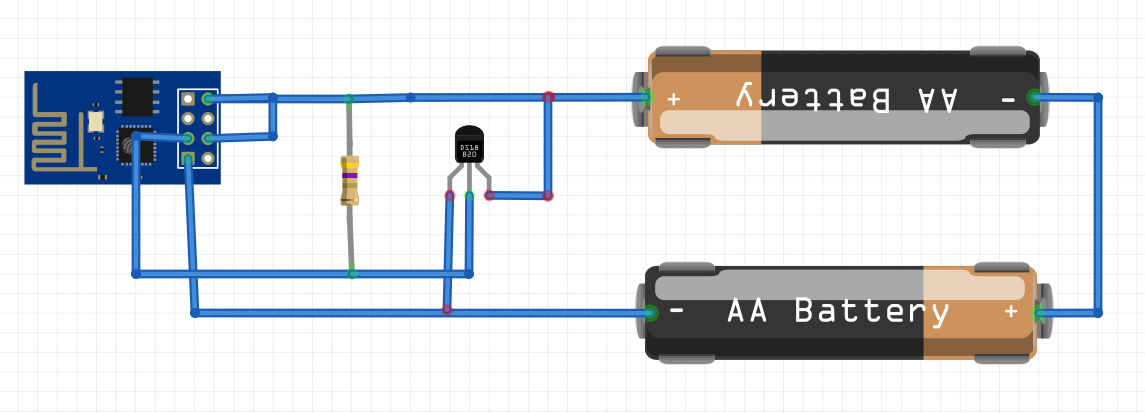 ESP8266 WiFi DS18B20 temperature sensor (Arduino IDE)