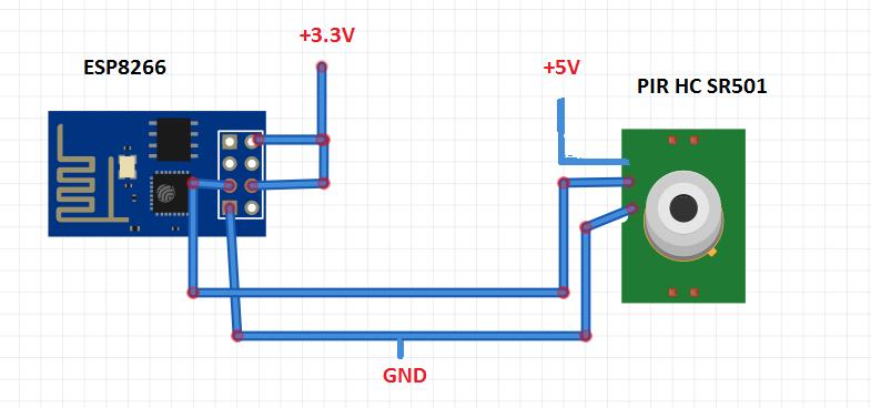 ESP8266 WiFi PIR motion sensor (Arduino IDE)