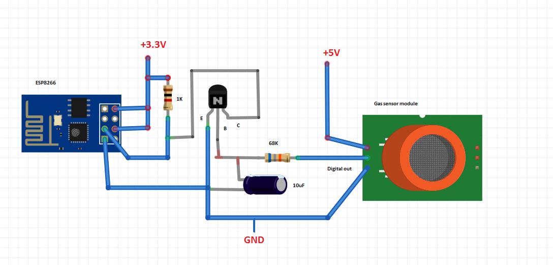 ESP8266 WiFi gas sensor (Arduino IDE)