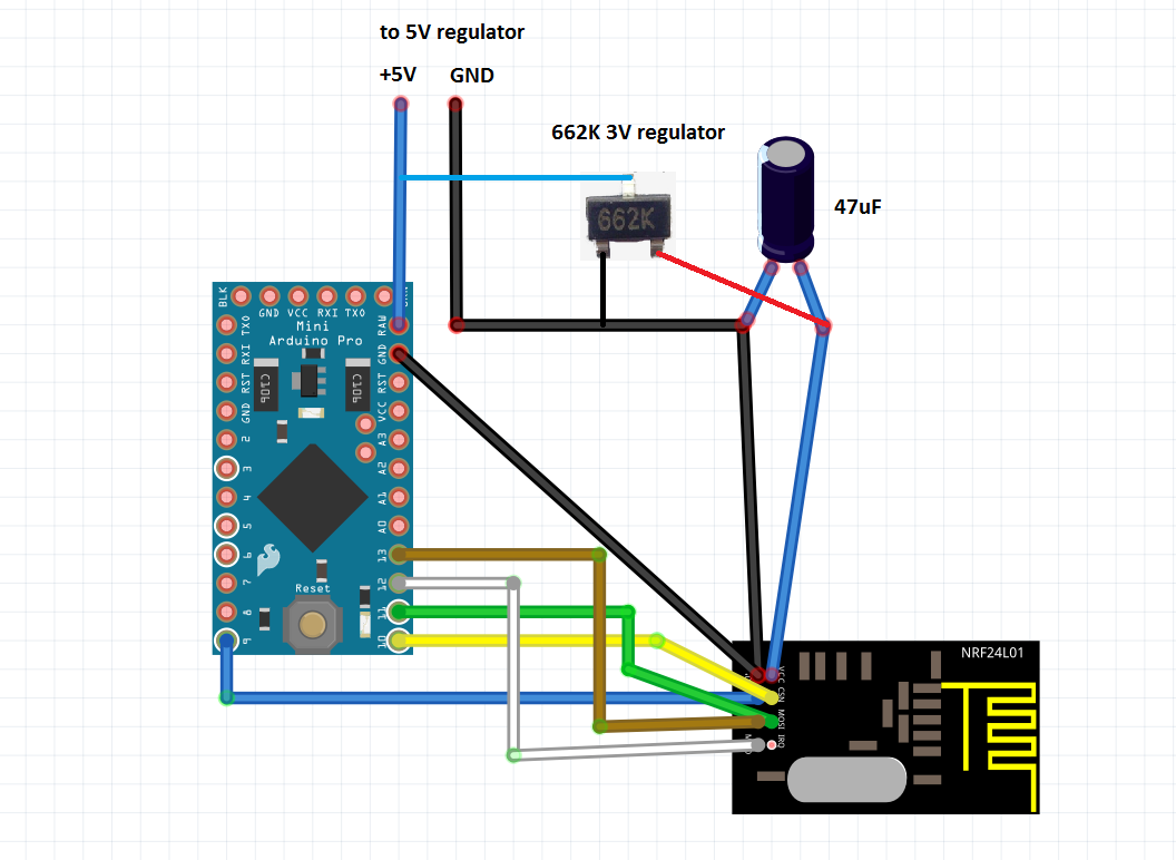 NRF24L01 MySesnors Arduino conenction