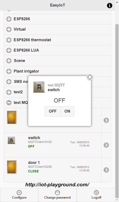 EasyIoT server MQTT client driver