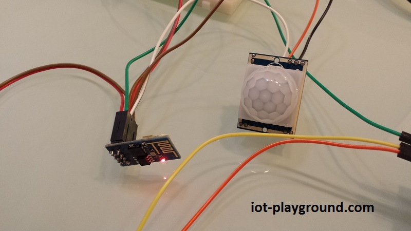 ESP8266 WiFi PIR motion sensor (EasyIoT Cloud REST API)
