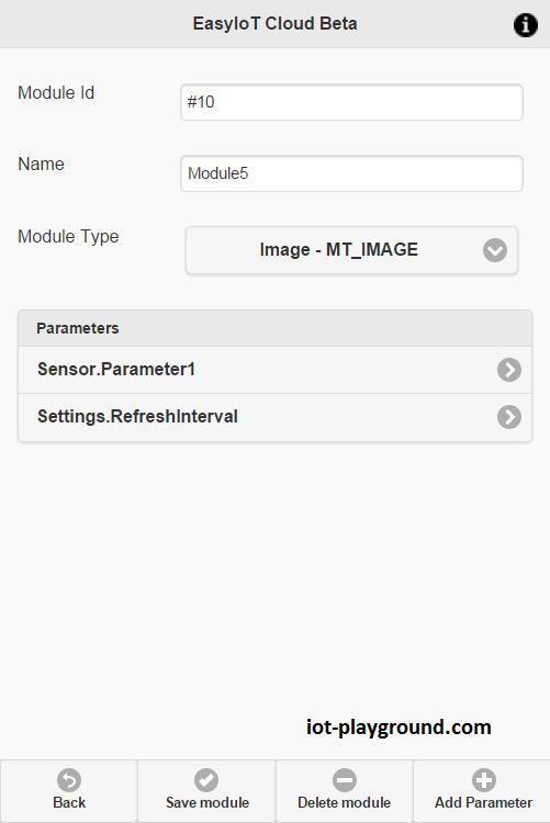EasyIoT Cloud module config