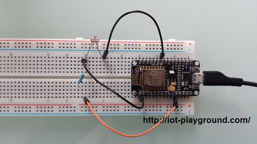 ESP8266 light sensor
