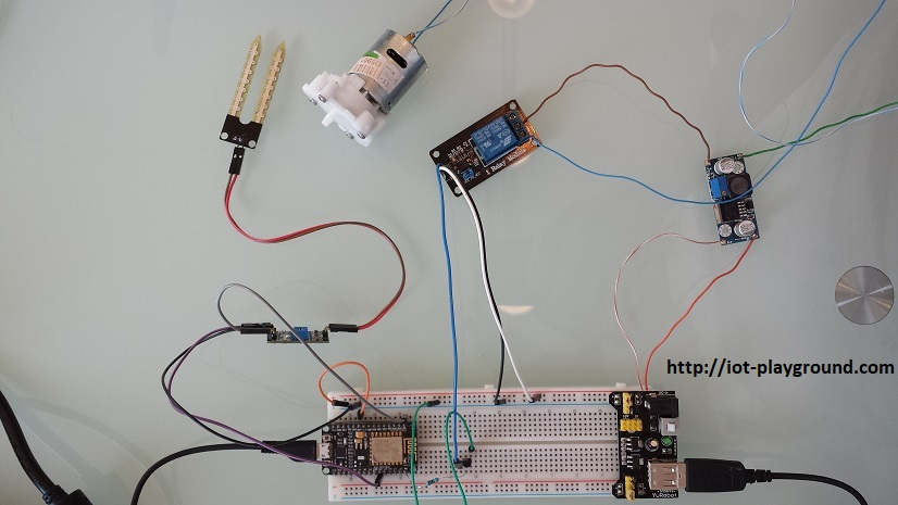 ESP8266 smart plant irrigation system