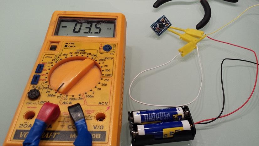 Arduino low power sensor